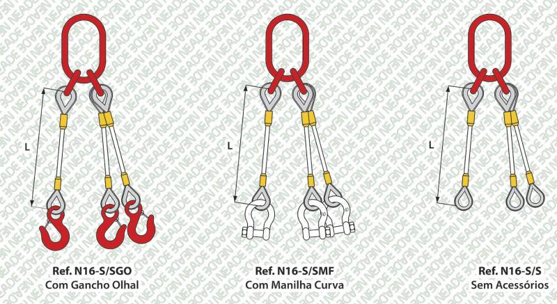 NEADE laços referência n16 3 pernas anel sub elo