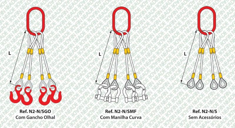 NEADE laços referência n2 4 pernas anel